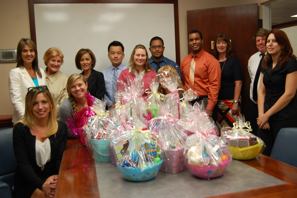 City Auditor Laura Doud & Office Staff donate Easter Baskets for Operation Easter Basket
