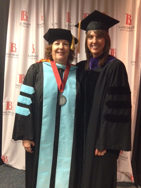 City Auditor Laura Doud with Dr. Virginia Baxter at Long Beach City College Commencement Ceremony