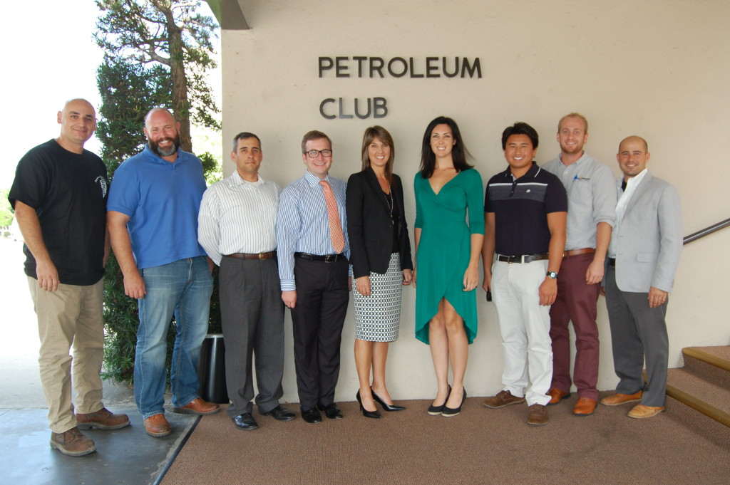 City Auditor Laura Doud with Young Professionals at the Petroleum Club.
