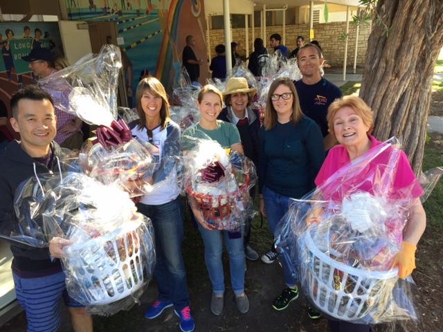 City Auditor Laura Doud & Office Staff volunteer at Long Beach Basket Brigade