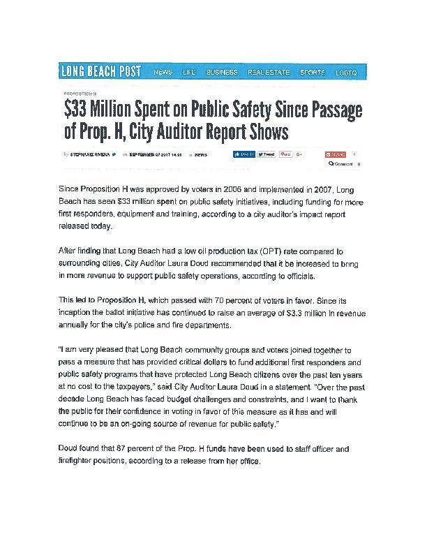 News Articles   Long Beach City Auditor